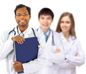 The doctor and interns — Stock Photo
