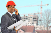 Smiling men architect working — Stock Photo