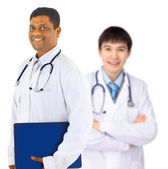 The doctor and the intern — Stock Photo