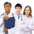 The doctor and interns — Stockfoto #8535097