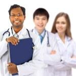 der Arzt und Praktikanten — Stockfoto