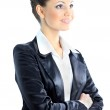 Nice business woman. Isolated on a white background. — Stock Photo #8750907