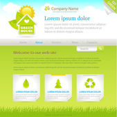 Green House. Web site design template — Stock Vector