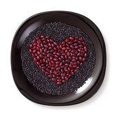 Heart shaped Cereals — Stock Photo