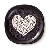 Zbóż w kształcie serca — Zdjęcie stockowe