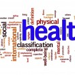 Health word cloud - Stock Photo