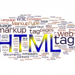 Royalty-Free Stock Photo: Html word cloud