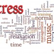 Royalty-Free Stock Photo: Stress word cloud