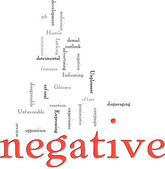 Negative word cloud — Stock Photo