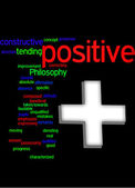 Positive word cloud — Stockfoto