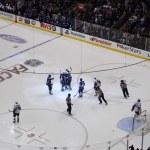 NHL hockey game — Stock Photo