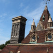 Boldt castle roof top showing architecture details — Stock Photo #8234360