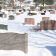 Snow covered cemetary — Stock Photo
