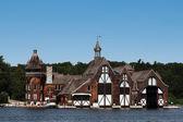 Boldt castle boat house — Stock Photo
