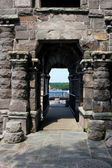Old stone archway at boldt castle grounds — Stockfoto