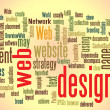 Web design word cloud — Stock Photo #8449324