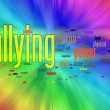 Bullying word cloud — Stock Photo
