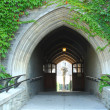 Stock Photo: Old arched doorway passage