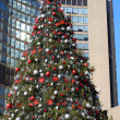 Christmas tree at city hall toronto - Stock Photo