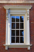 Victorian window and frame architectural detail — Foto Stock