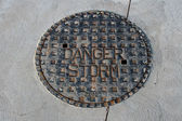 Storm drainage cover — Stock Photo