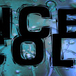 Ice cold sign on blue icecubes background — Stock Photo