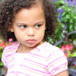 Pouty little girl — Stock Photo