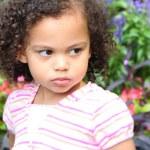 Pouty little girl — Stock Photo