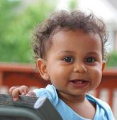 Cute little multi racial boy — Stock Photo