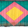 Colorful painted wooden door background — Stock Photo