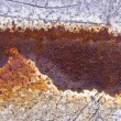 Stock Photo: Rusted metal tin background