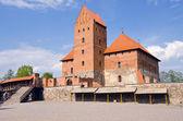 Litevský král hrad trakai — Stock fotografie
