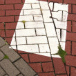 Various bricks pavement background — Stock Photo
