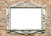 Old wall with vintage frame for text — Stock Photo