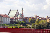 Old town Warsaw, capital Poland — Stock Photo