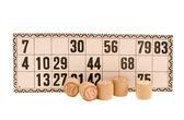 Izole vintage numara loto oyun detayları — Stok fotoğraf