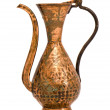 Isolated and ornamental old copper jug — Stock Photo