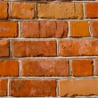 Ancient red bricks wall background — Zdjęcie stockowe