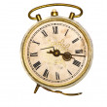 Isolated old alarm clock — Stock Photo