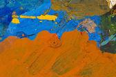 Acrylic painters palette background — Stock Photo