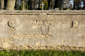 Historical cemetery fence wall background — Stock Photo