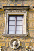 Old town ornamental wall and window — Stock Photo