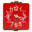Isolated retro and red clock dial — Stockfoto #9404039