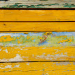 Old painted and cracked wooden wall - Stock Photo