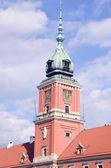 Warsaw king palace tower — Stock Photo