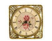 Isolerade vintage och utsmyckade klocka — Stockfoto