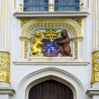 Stock Photo: Historical architecture detail with blazon in Brugge