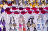 Various necklaces in the fair — Stock Photo