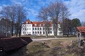 Medieval Lithuanian castle Birzai — Stock Photo