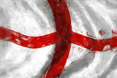 Flag of England abstract painting background — Stock Photo